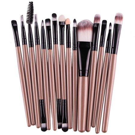 Mosunx 15 pcs/Sets Eye Shadow Foundation Eyebrow Lip Brush Makeup Brushes Tool