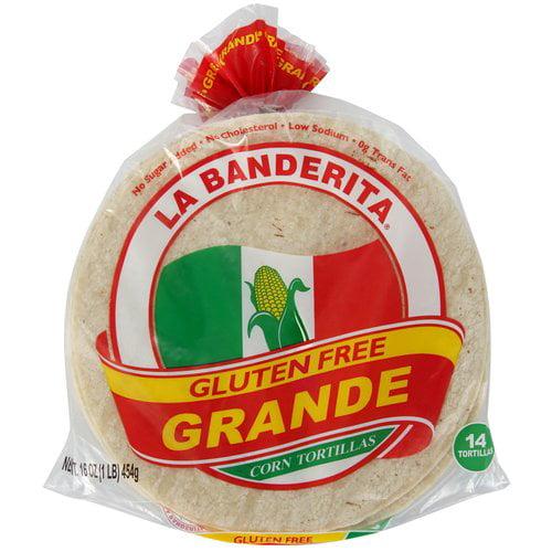La Banderita Grande Gluten Free Corn Tortillas, 14 ct