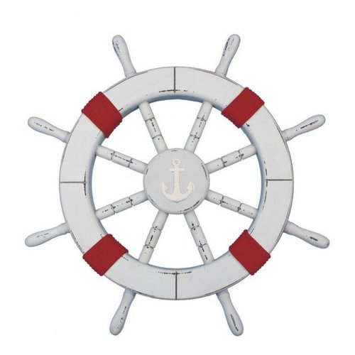 Handcrafted Nautical Decor Rustic Ship Wheel Wall D cor