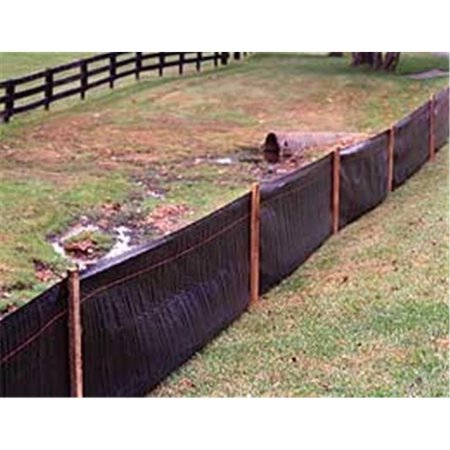 Tenax 31900500  2 ft. H x 100 ft. L Silt Fence](Black Picket Fences)