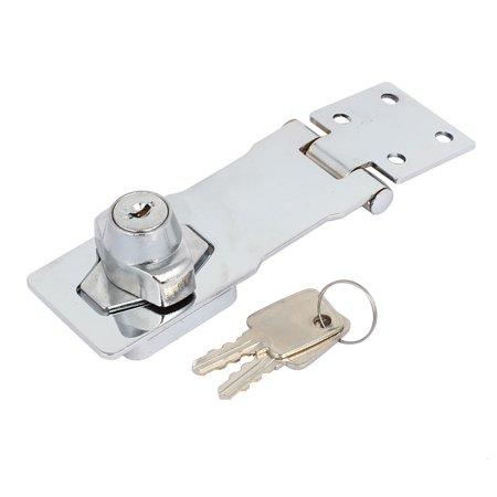 Cabinet Mailbox Keyed Entry  Guard Hasp Lock Latch 4-inch Long w Screws (Attache Screw Lock)