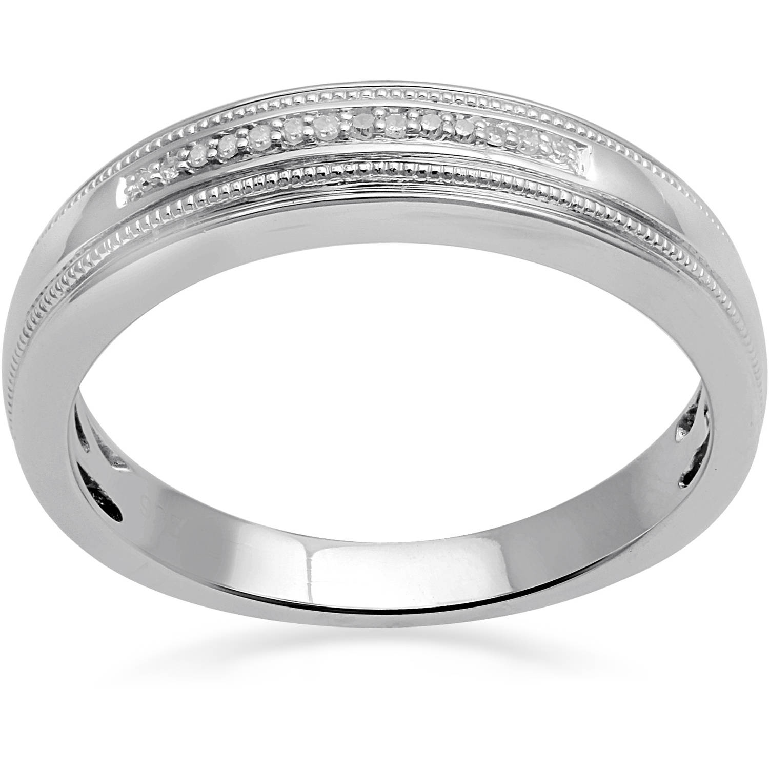 Forever Bride 1/20 Carat T.W. Diamond Sterling Silver Men's Ring