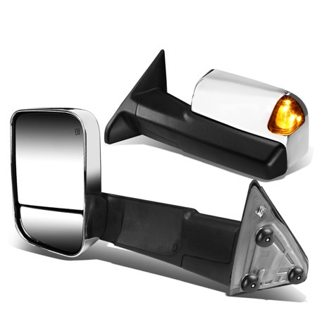 For 2010 to 2016 Dodge Ram 1500 2500 3500 Powered Tow Mirrors Amber LED Turn Signal (2010 Dodge Ram Power Wagon For Sale)