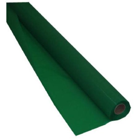 Solid Plastic Banquet Roll Tablecover, Emerald Green, 100' - 1 Pkg Emerald Green Plastic Table