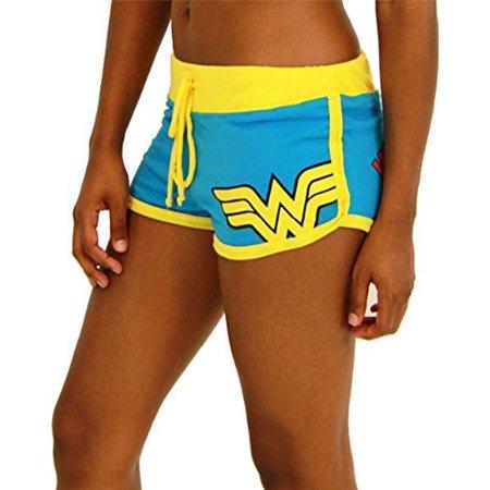 Logo Cotton Shorts - DC Comics Wonder Woman Logo Booty Shorts