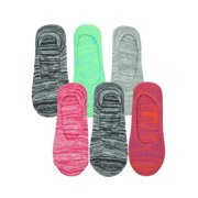 Multicolor Marled Knit 6 Pack No Show Socks For Women
