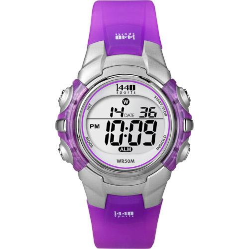 Timex Women's 1440 Sports Watch, Purple Resin Strap