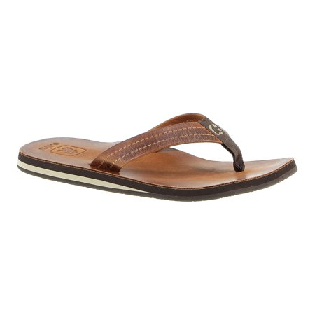 Cushe Fresh M Mens Tan Leather Slip On Flip Flop Sandals