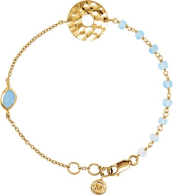 18kt Vermeil Blue Chalcedony 7.5 Bracelet 650873   18Kt Yellow Vermeil   Bracelet   Complete With Stone   Uneven & Round... by Midwest Jewellery