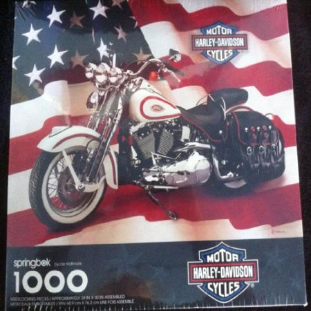 springbok harley davidson motorcycles jigsaw puzzle 1000 pieces 1998. Black Bedroom Furniture Sets. Home Design Ideas