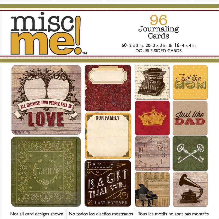Misc Me Pocket Squares Journaling Cards, 96-Pack