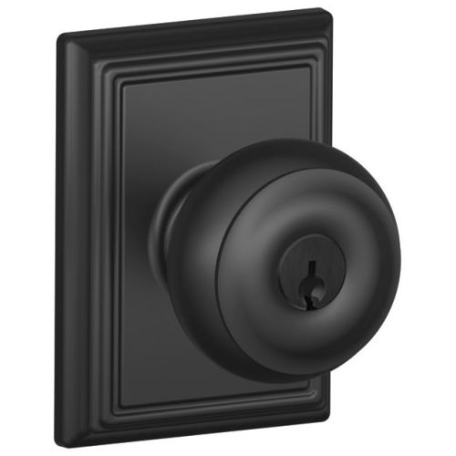 Schlage F51-GEO-ADD Georgian Keyed Entry F51A Panic Proof Door Knob with Addison Rosette