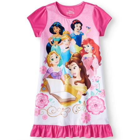 Girls' Disney Princesses Pajama - Girls Satin Nightgown