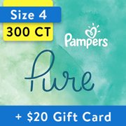 [Save $20] Size 4 Pampers Pure Protection Diapers, 300 Total Diapers