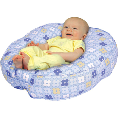 Leachco Bummzie Sling-Style Infant Lounger, Blue 4 Squares
