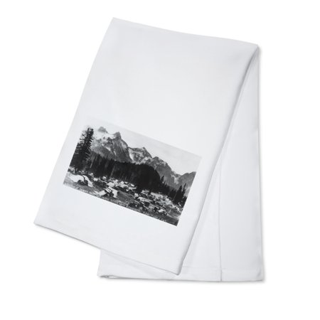 Mt. Rainier Nat'l Park, Washington - Paradise Valley Camp Ground View, Tatoosh Range (100% Cotton Kitchen (Best Camping At Mt Rainier)