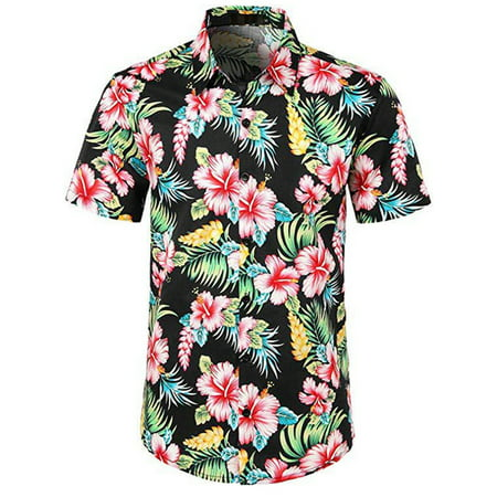 Men Fancy Floral Aloha Party Stag Beach Holiday Hawaiian