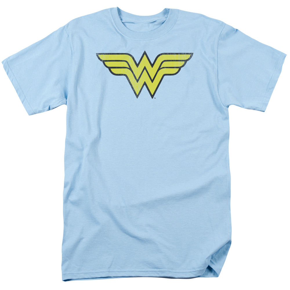 DC Comics Wonder Woman Logo Distressed Mens Short Sleeve Shirt