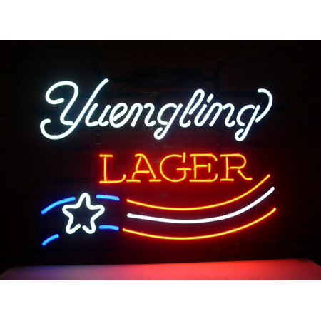 "Desung Brand New Yuengling Lager Eagle US Flag Neon Sign Handcrafted Real Glass Beer Bar Pub Man Cave Sports Neon Light 20""x 16"" WM29"