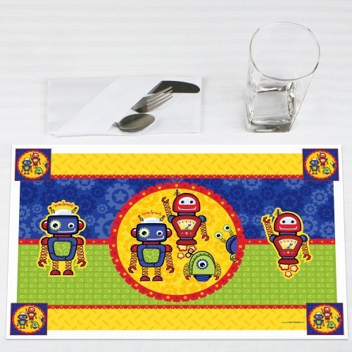 Robots Party Placemats Set of 12 by Big Dot of Happiness, LLC