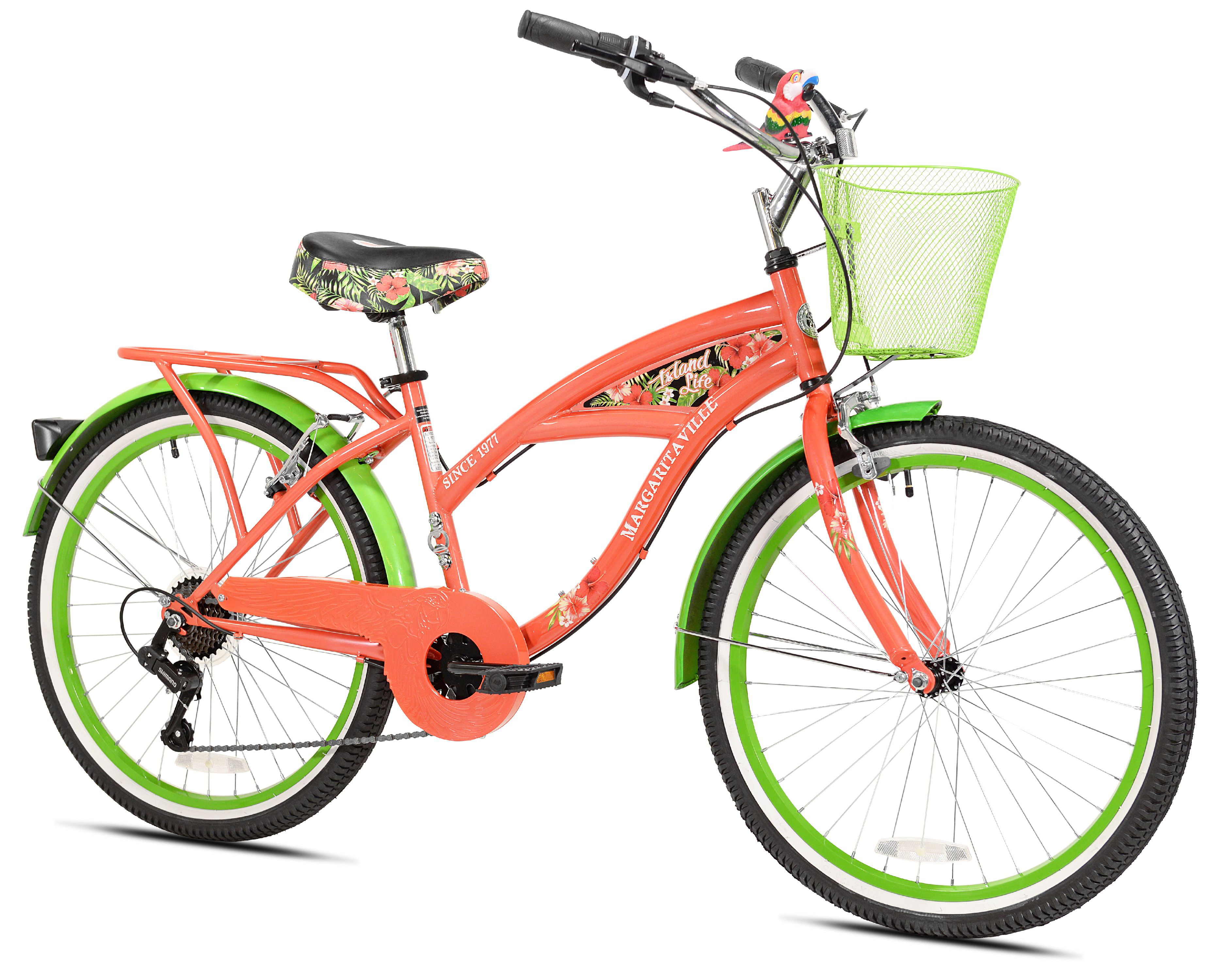 """Click here to buy 24"""" Girls Margaritaville Island Life Multi Speed Bicycle, Coral Green by Kent International Inc."""