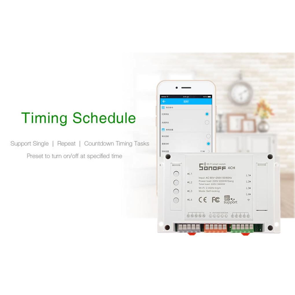 Sonoff 4ch - control 4 home appliances Channel Remote ...