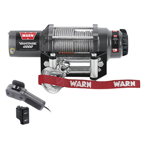 "Warn Vantage 4000 4,000 lb. Capacity RV Winch with 55' x 7/32"" Cable"