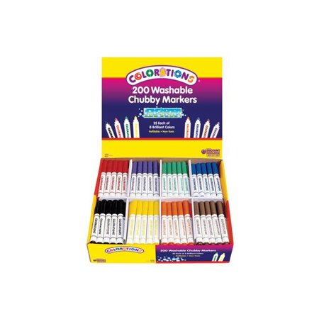 - Colorations Washable Chubby Markers - Set of 200 (Item # CHBST)