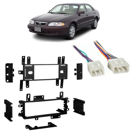 Fits Mazda 626 1993-2000 Single DIN Aftermarket Harness Radio Install Dash Kit