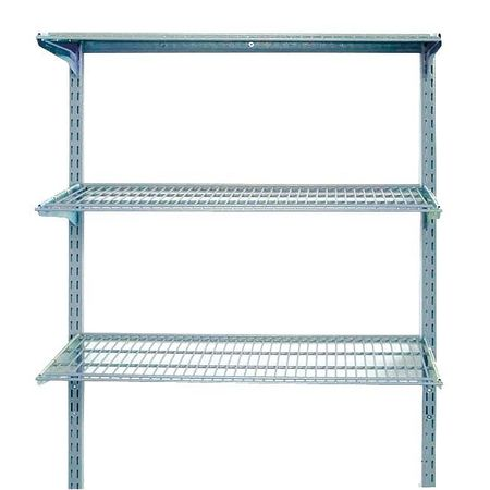 Wall Mounted Wire Shelving,375 lb
