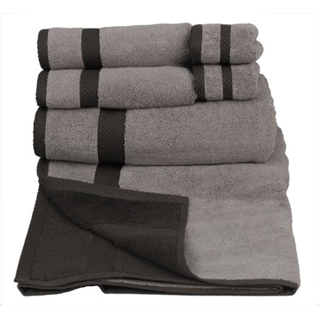 grey and white bath towels; Related: grey and white bedspread, black and white dish towels, black and white striped bath towels, more. Black, Blue, Brown, Bronze, Cyan, Grey, Terra Cotta, and TealCARE LABEL: These beautiful towels are colorfast and machine washable. The softness of these towels continues to multiply with every wash.
