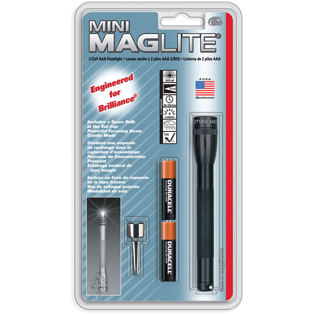 Maglite 1 Cell AAA Solitaire ampoules de rechange Maglight Single Cell AAA