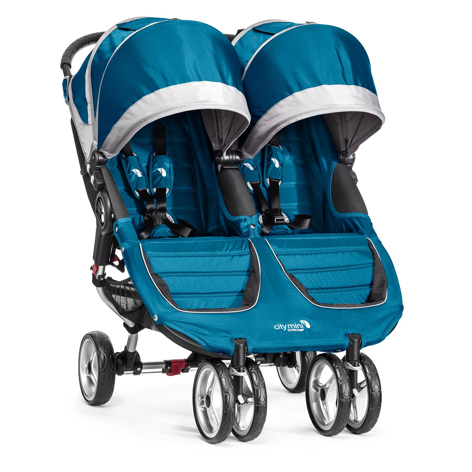 Baby Jogger City Mini Double Stroller Teal Gray by Baby Jogger