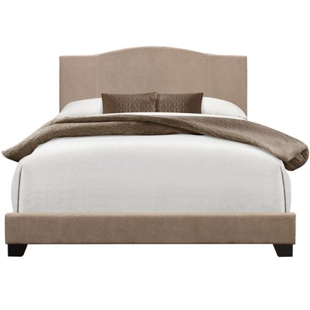 Pulaski Camel Back Upholstered Queen Panel Bed In Sand