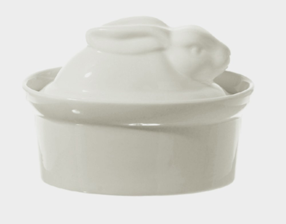 Bianca White Porcelain Rabbit Shaped Casserole Dish Terrine P001501016, From US,Brand generic by