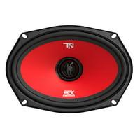 MTX Terminator69 60 Watt RMS 2 Way Polypropylene Coaxial Car Speakers, Pair