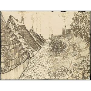 Street in Saintes-Maries-de-la-Mer Poster Print by Vincent van Gogh (Dutch Zundert 1853–1890 Auvers-sur-Oise) (18 x 24)