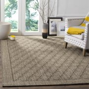 Safavieh  Palm Beach Silver Grey Sisal Rug (4' x 6')