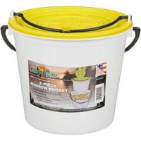 Flambeau Outdoors 2-Piece Minnow Fishing Bait Bucket, Small, Yellow / White