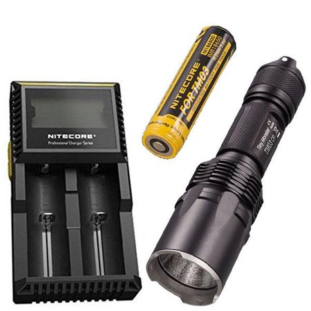 Combo: Nitecore Tiny Monster TM03 CRI CREE XHP70 LED Flashlight -2600 Lumens -Includes 1x IMR 18650 Battery +D2 Charger +FREE Battery (Free Case Monster)