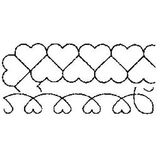6-Inch and 8-Inch C L Loopy Leaf Blocks Sten Source Quilt Stencils by Barbara Chainey 8-Inch x 18-Inch