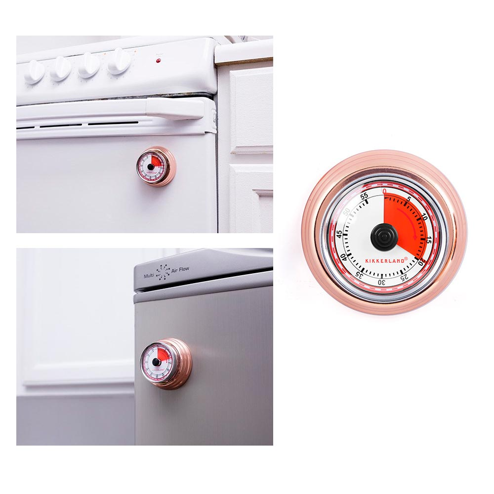 1 Kikkerland Magnetic Kitchen Timer Rotary Cook 55 Min Cooking Alarm Count  Down   Walmart.com
