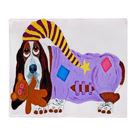 CafePress - Basset Hound Bedtime - Soft Fleece Throw Blanket, 50