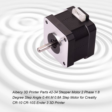 Aibecy 3D Printer Parts 42-34 Stepper Motor 2 Phase 1.8 Degree Step Angle 0.4N.M 0.8A Step Motor for Creality CR-10 CR-10S Ender 3 3D Printer - image 7 de 7