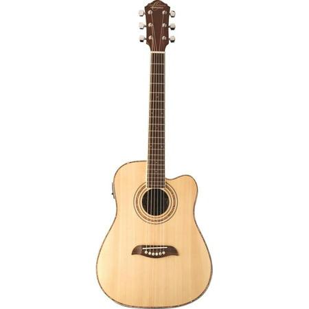 Oscar Schmidt 3/4 Size Acoustic/Electric Guitar, 4 Band EQ, Natural, OG1CE