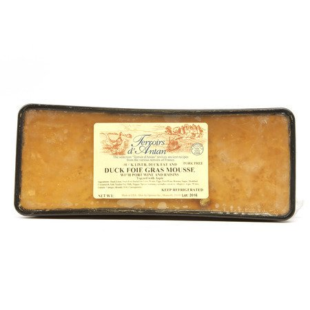Duck Foie Gras Mousse with Port Wine - 3.2-3.6 Lbs - Not For Sale in CA Duck Foie Gras Mousse