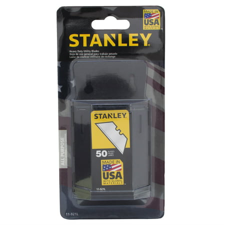 STANLEY ® 11-921L 50pk 1992 Heavy-Duty Utility Blades With Dispenser