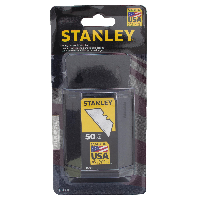STANLEY 11-921L 50pk 1992 Heavy-Duty Utility Blades With Dispenser