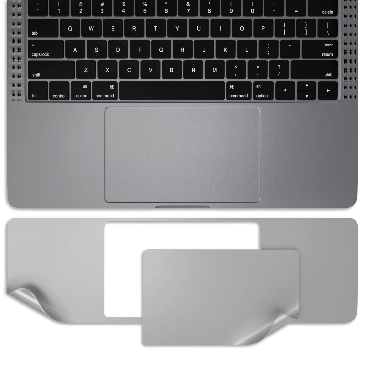 Kuzy Macbook Pro 15 Case 2016 A1707 Palmrest Trackpad Skin Protector Newest Release October 2016 With Without Touch Bar Touch Id Sticker Walmart Com Walmart Com