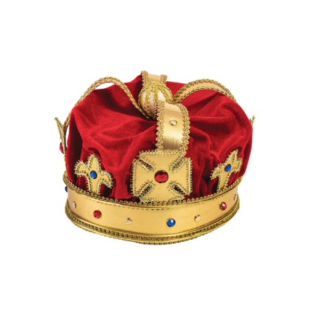 Regal King Crown Adult Halloween Accessory
